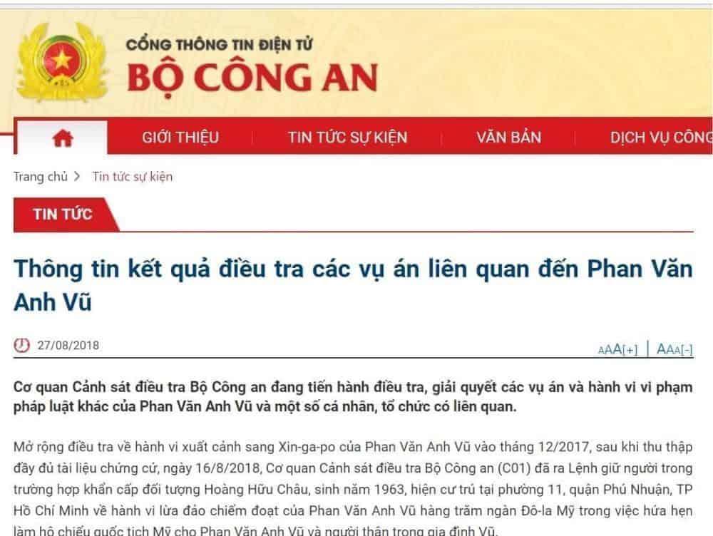 Thứ trưởng Bộ Công an Bùi Văn Thành và 2 nguyên Chủ tịch UBND Đà Nẵng nằm trong danh sách những cán bộ bị cơ quan chức năng kết luận có sai phạm liên quan đến Phan Văn Anh Vũ.