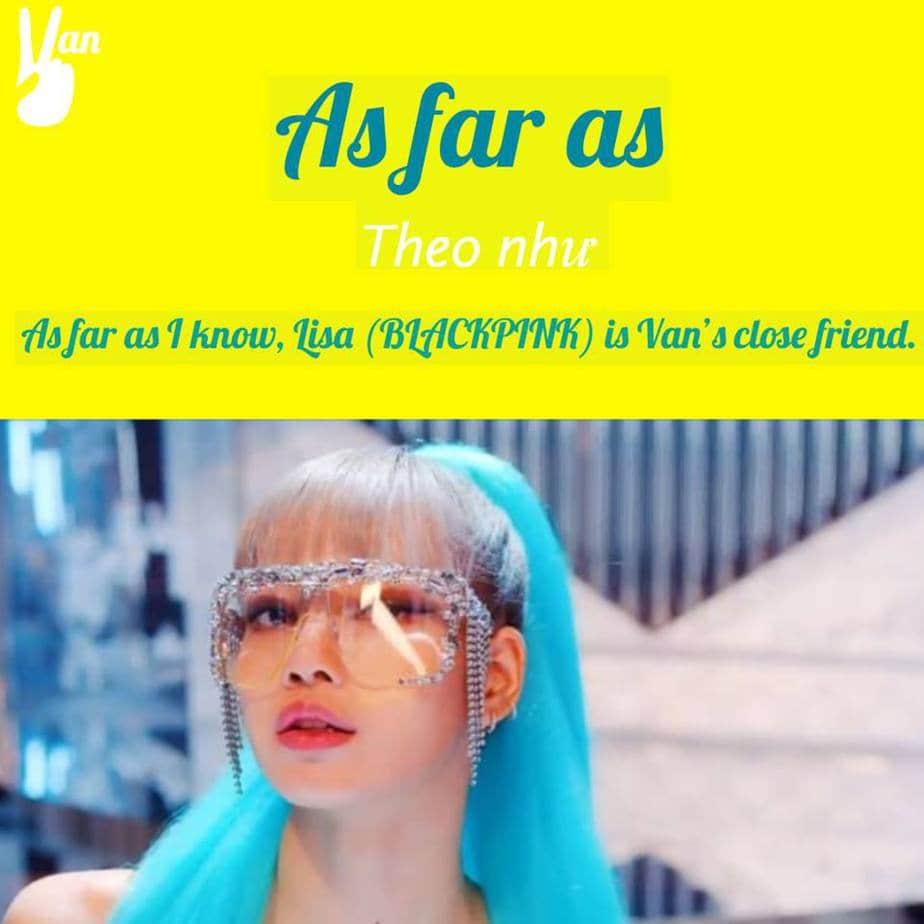 as far as