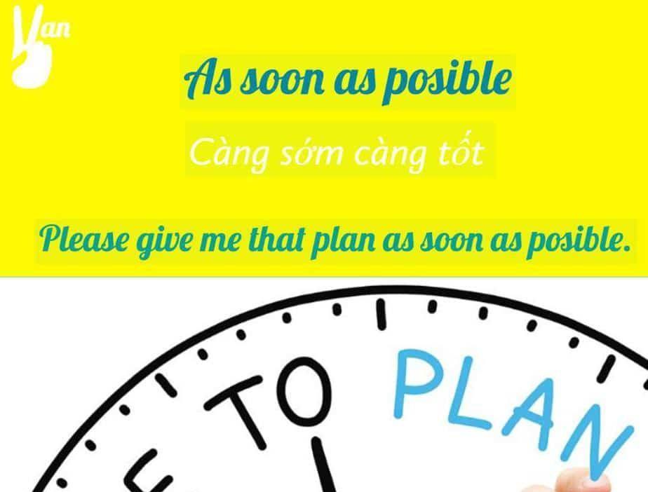 as soon as