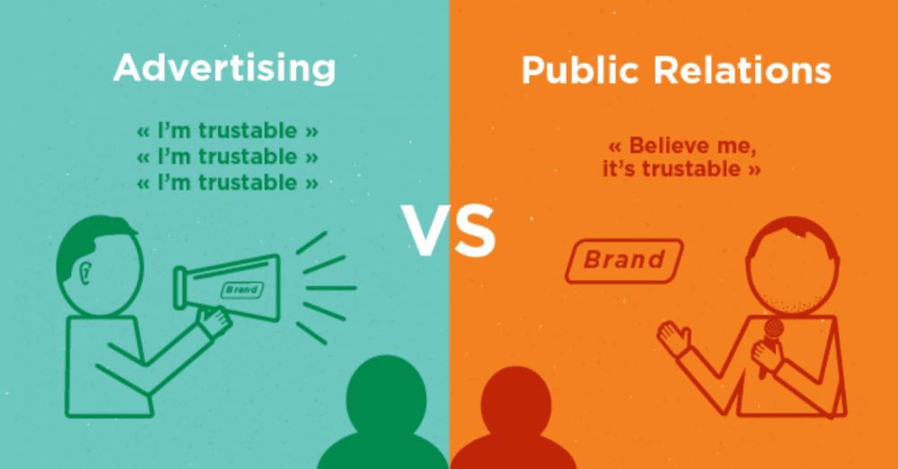 khác nhau PR và quảng cáo