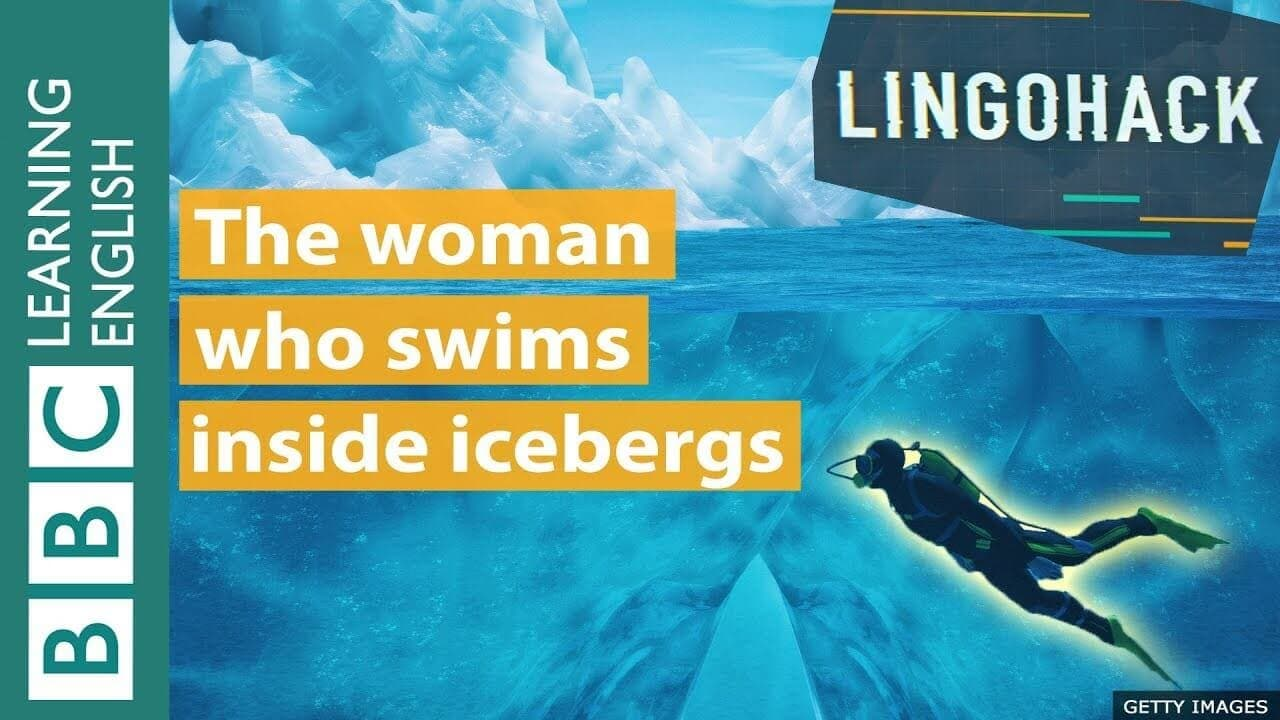 The woman who swim inside icebergs