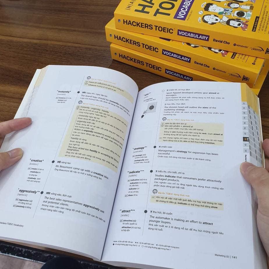 Chinh phục Toeic cùng sách Hacker Toeic Vocabulary