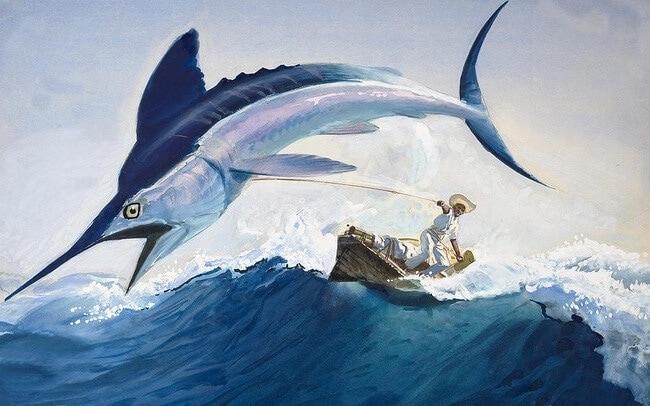 Tóm tắt Ông già và biển cả